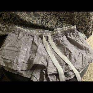 aerie pajama shorts grey medium